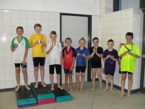 Boys backstroke winners