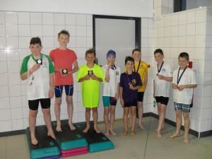 Boys breastroke winners