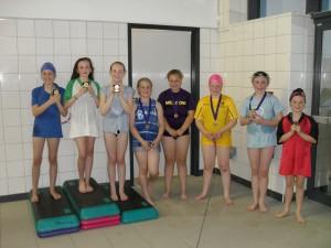 Girls backstroke winners