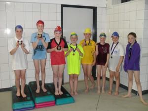 Girls breaststroke winners