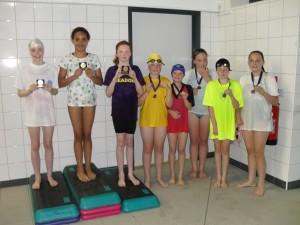 Girls freestyle winners